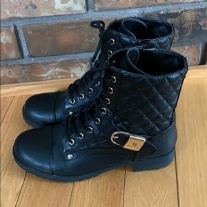Guess Black Quilted Fashion Boots